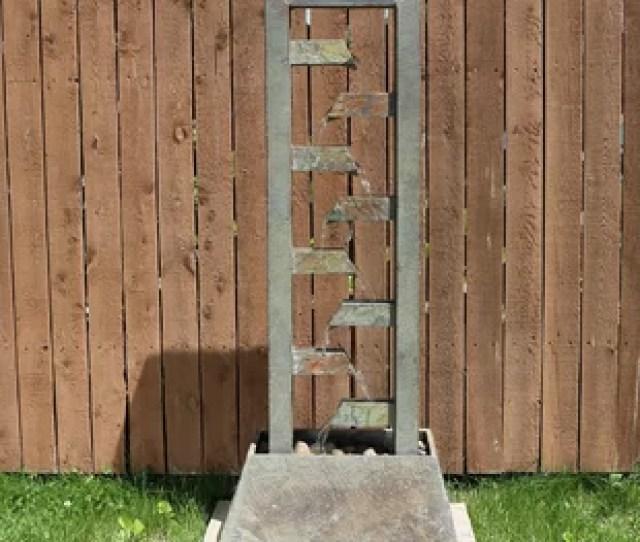 Alsup Slate Stacked Freestanding Garden Water Fountain