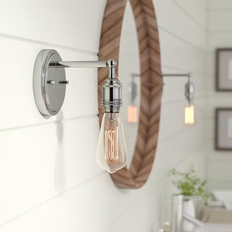 Laurel Foundry Modern Farmhouse Sandy Springs 1-Light Bath ... on Wayfair Bathroom Sconces id=65872