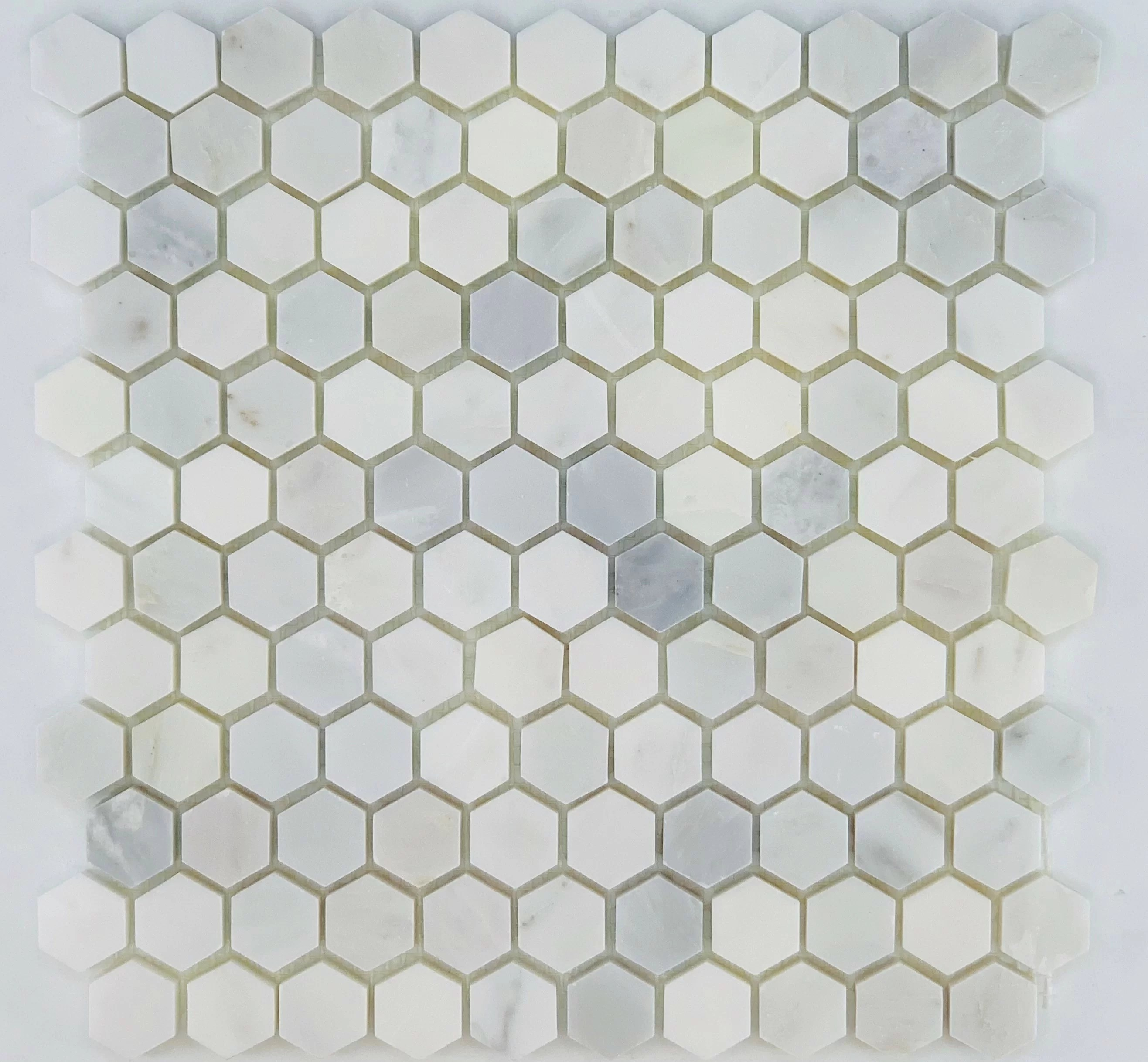 1 x 1 marble penny round wall floor tile