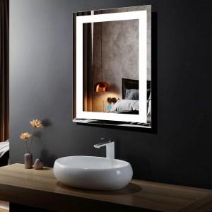 Seville Modern Contemporary Lighted Bathroom Vanity Mirror