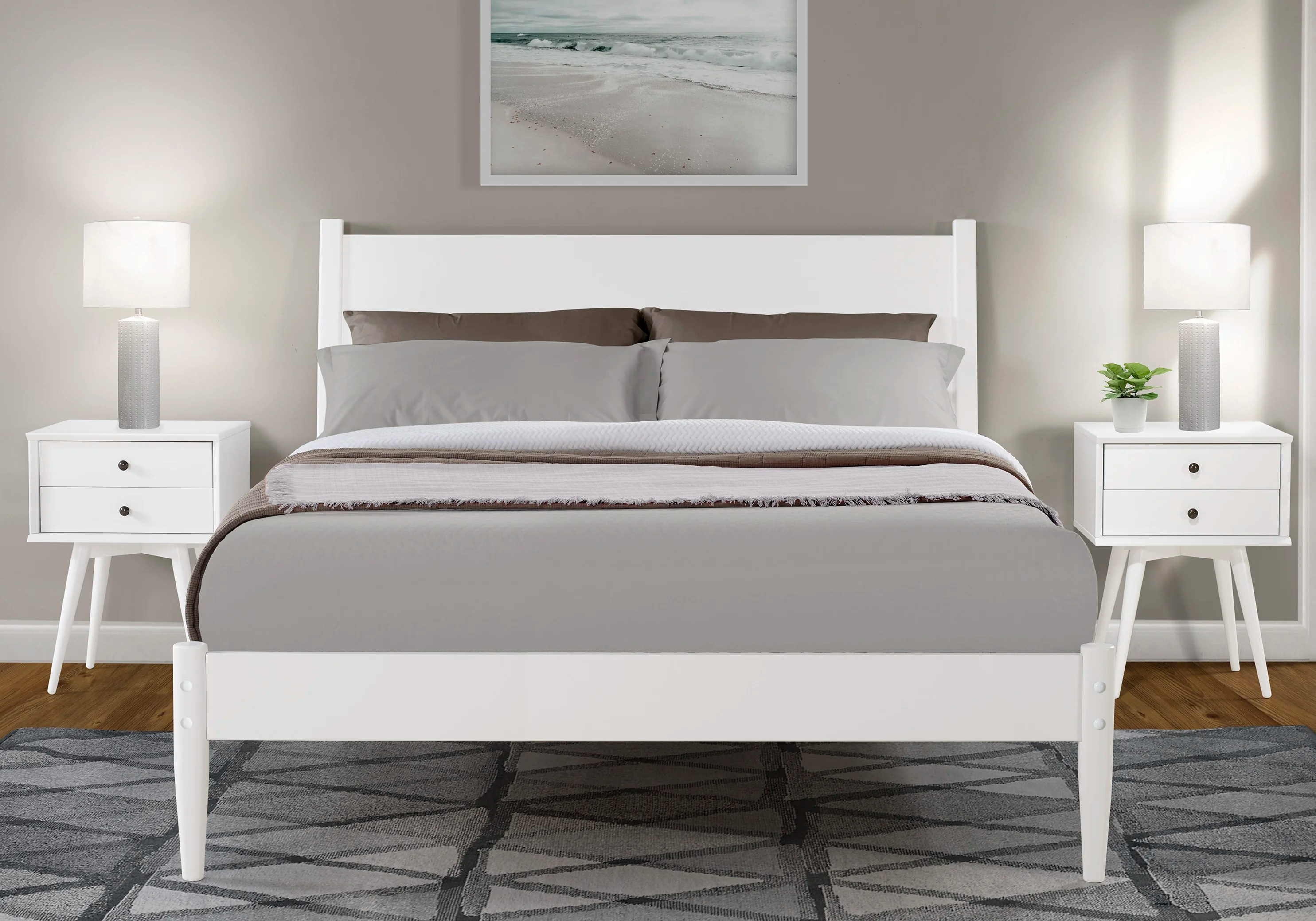 White Platform Beds Wayfair