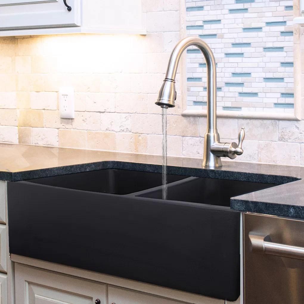 vineyard 33 l x 18 w double basin farmhouse kitchen sink
