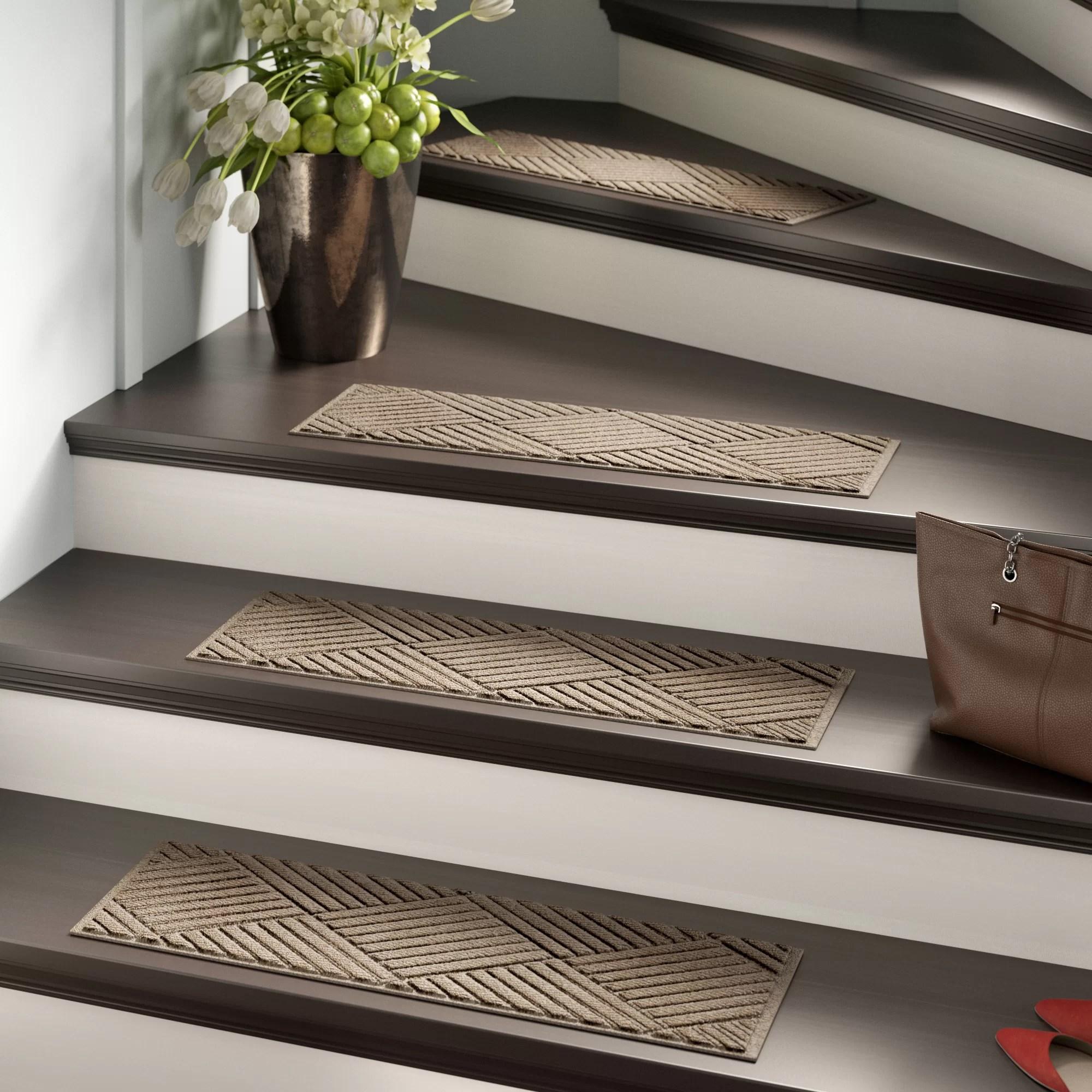 Stair Tread Rugs You Ll Love In 2020 Wayfair   Designer Carpet Stair Treads   Stair Runner   Non Slip   Oak Valley Designs   Flooring   Wood Grain