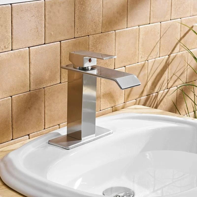 led waterfall spout bathroom sink