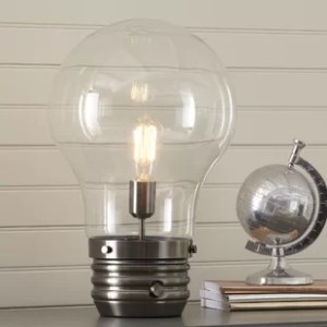 Edison Bulb Table Lamp   Wayfair Edison 18  Table Lamp with Globe Shade