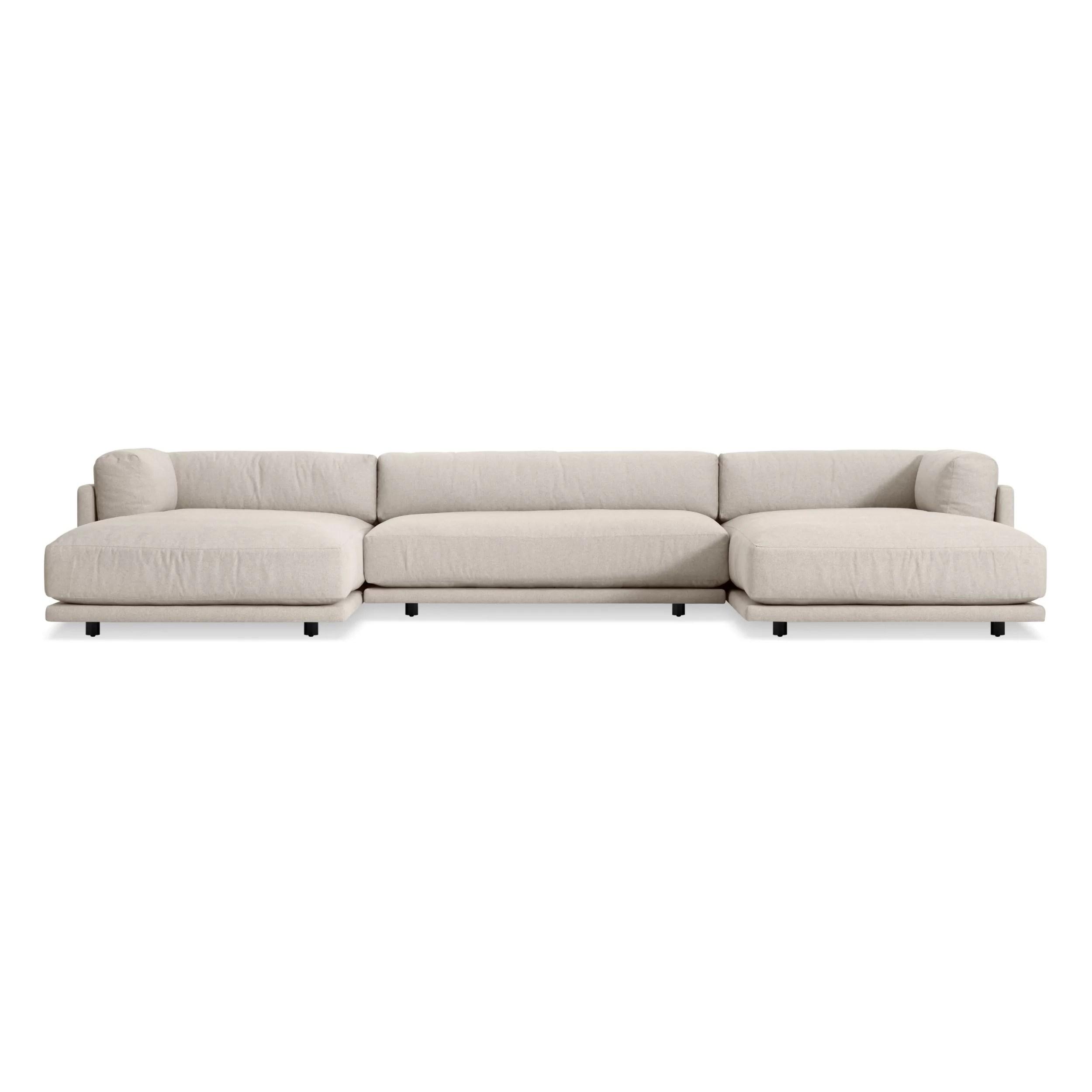 sunday u shaped 167 symmetrical sectional sofa
