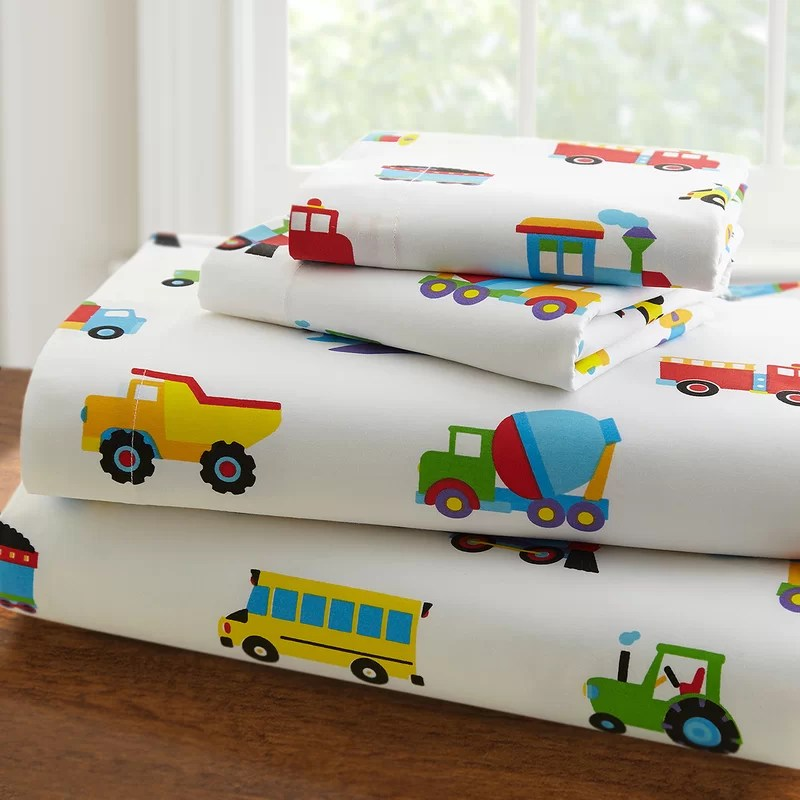 Olive Kids Trains, Planes and Trucks 3 Piece Toddler Bedding Set