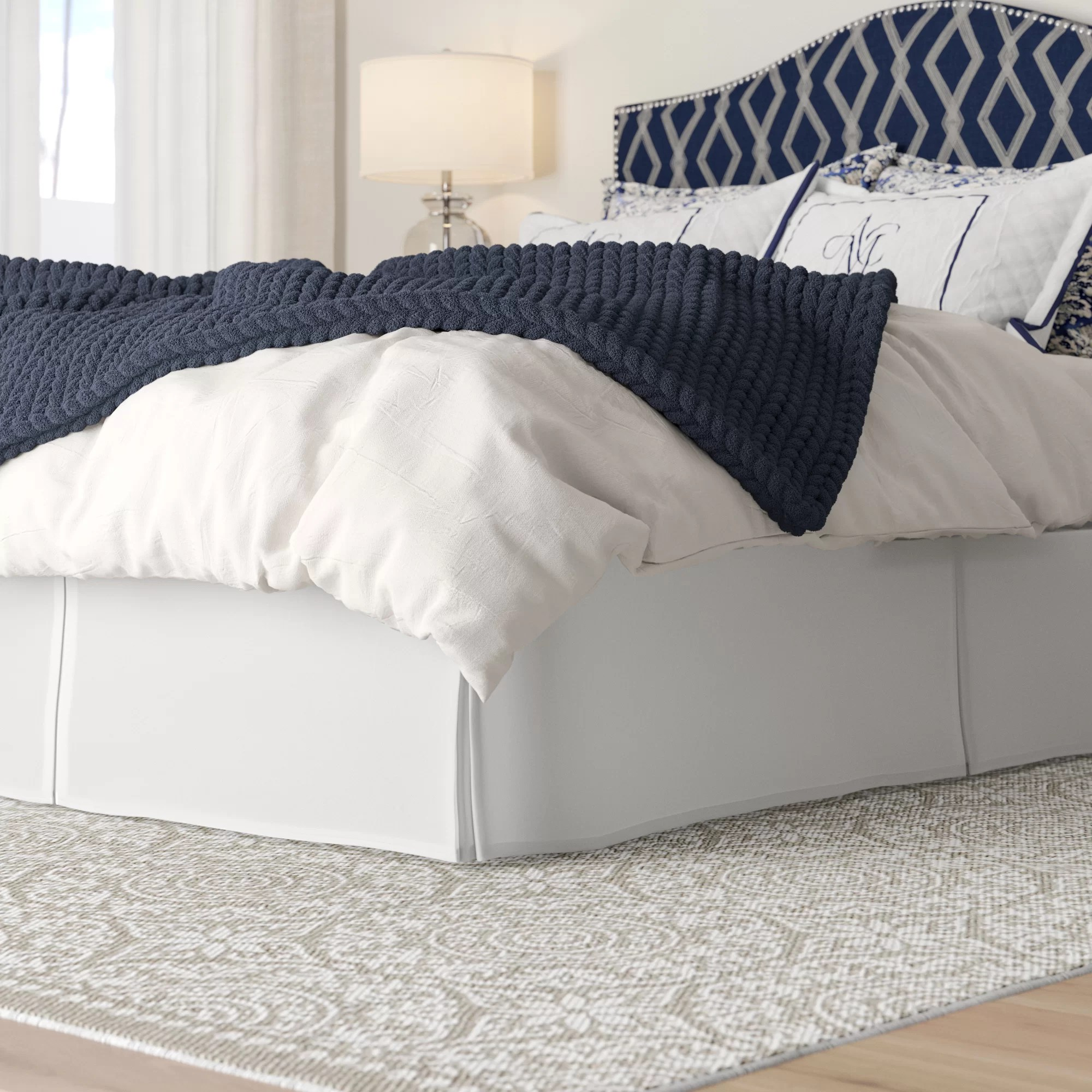 gearheart wrap around solid ruffled 140 thread count 15 bed skirt