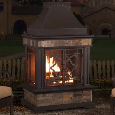 Outdoor Fireplaces & Fire Pits You'll Love in 2020 | Wayfair on Quillen Steel Outdoor Fireplace id=73445