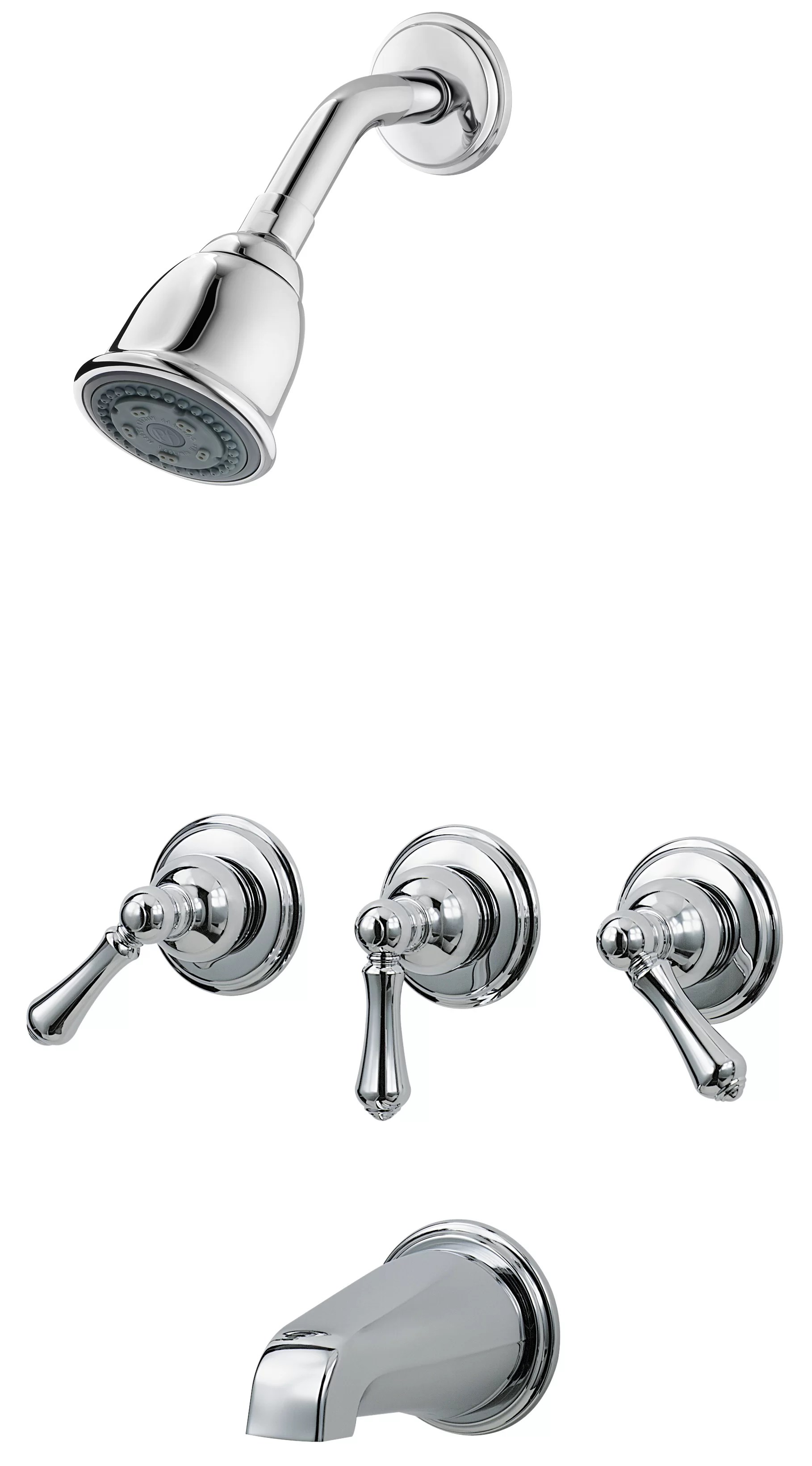 Pfister 3 Handle Thermostatic Tub And Shower Faucet With Trim Reviews Wayfair Ca