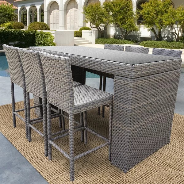 Outstanding Rochford 7 Piece Pub Table Set By Sol 72 Outdoor Herry Up Interior Design Ideas Greaswefileorg