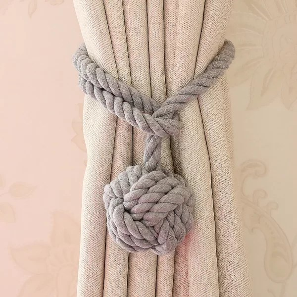 outdoor curtain rope tie backs