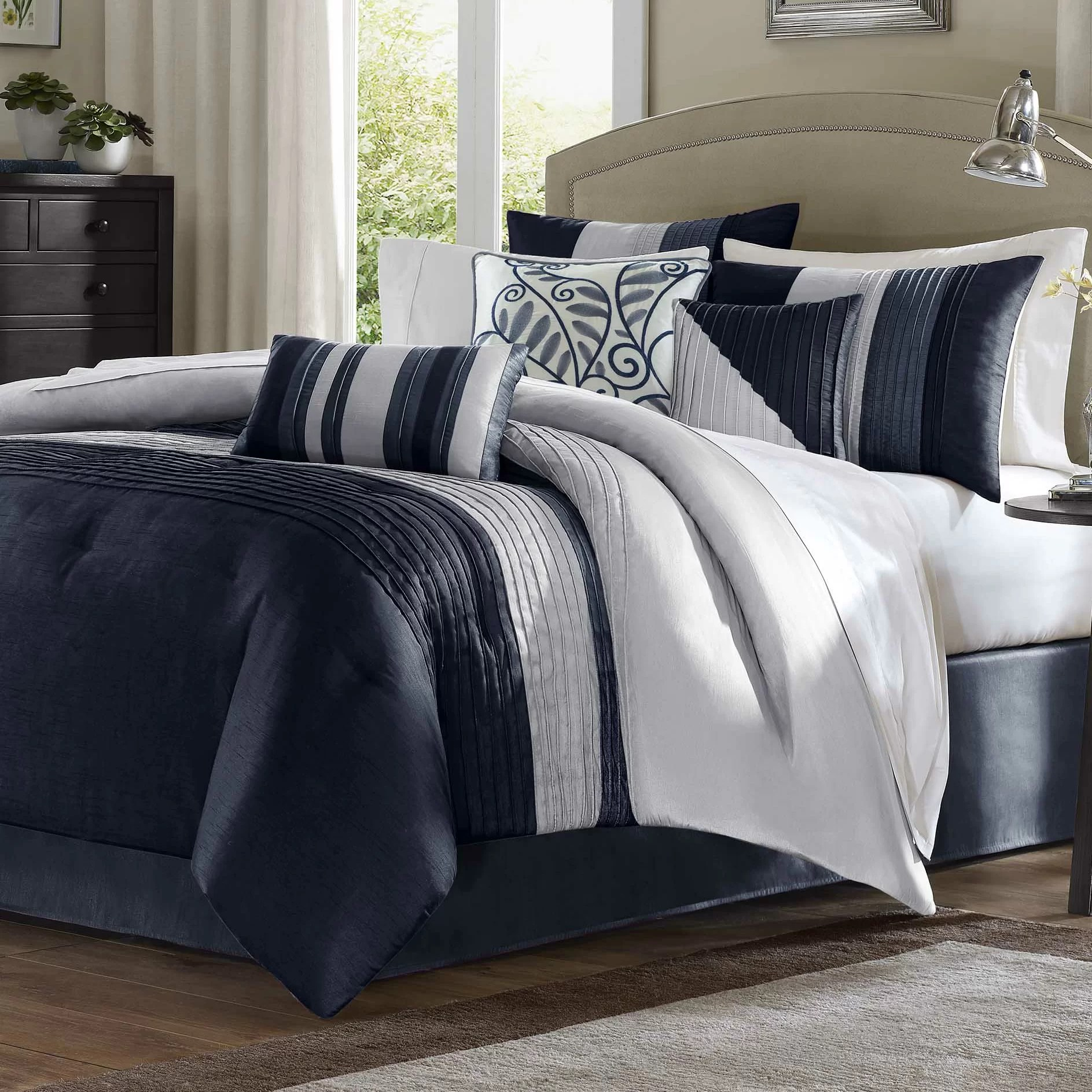 king size navy comforters sets you ll