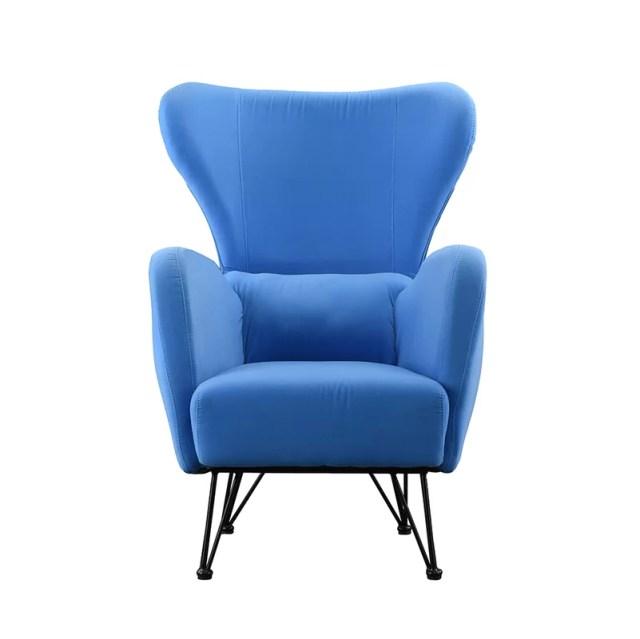 Calhoon Velvet Shelter Wingback Chair