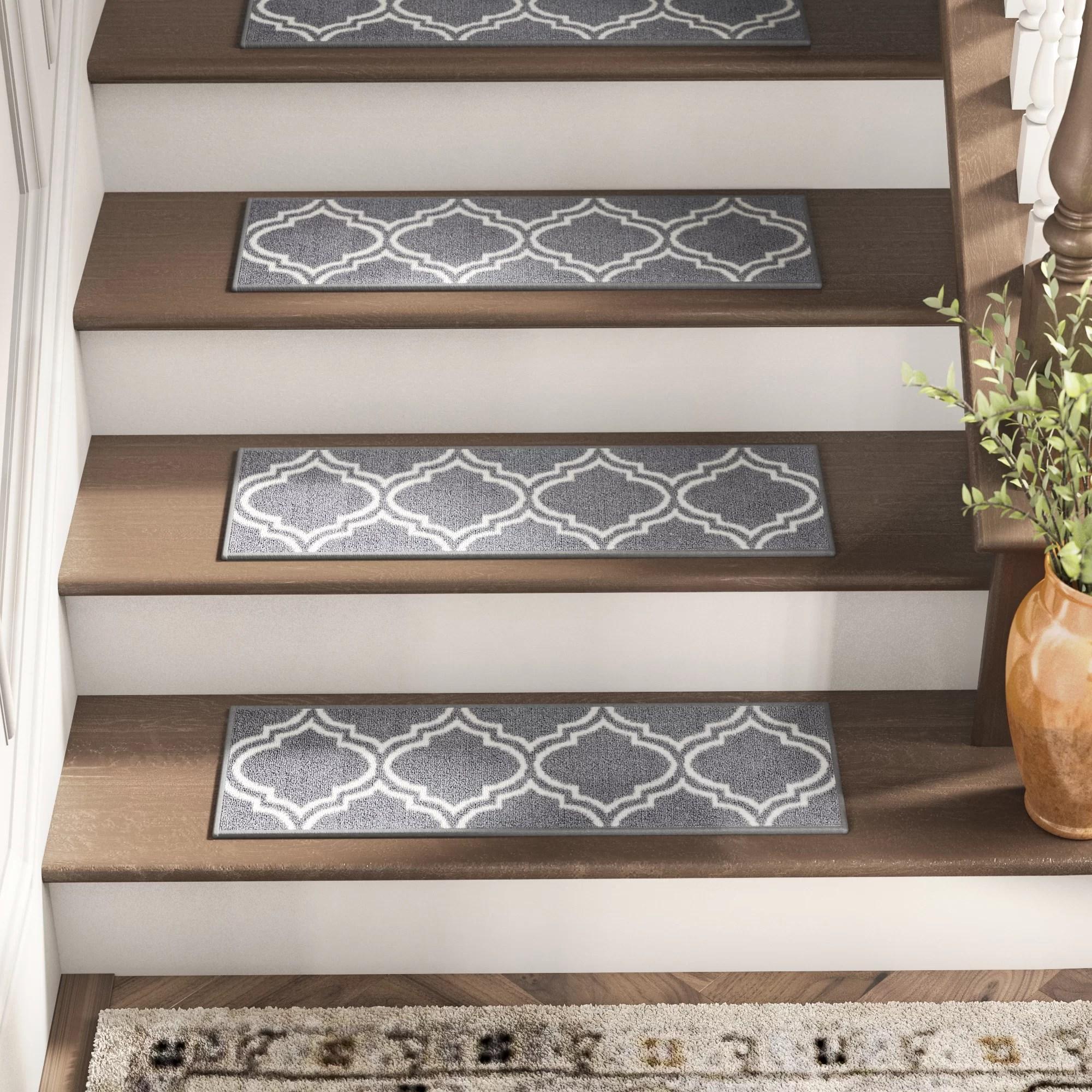 Stair Tread Rugs You Ll Love In 2020 Wayfair | Rustic Carpet Stair Treads | Sisal Carpet | Titanium Heather | Naturalarearugs Rustic | Carpet Runners | Farrel Moroccan