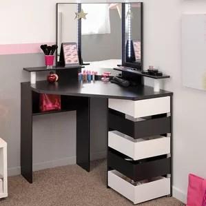 makeup vanity sets with lights wayfair
