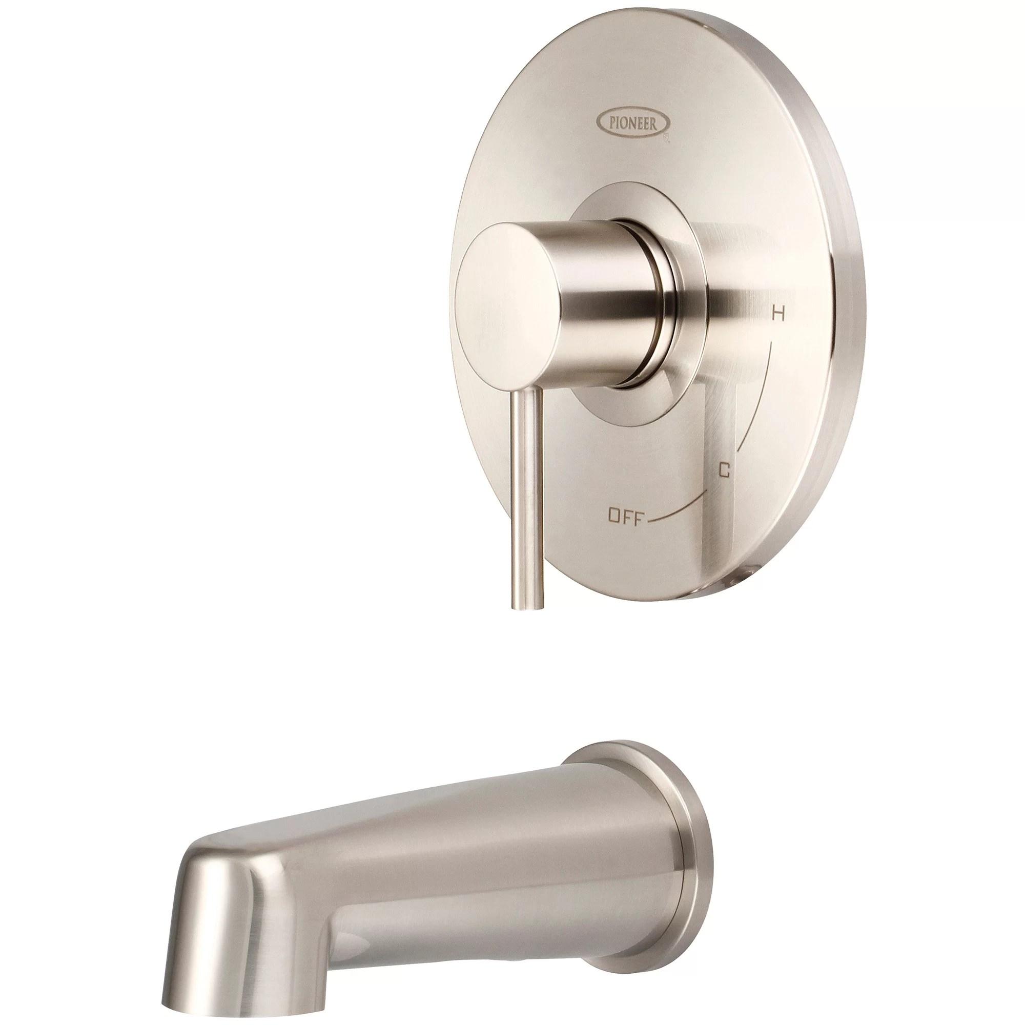 motegi single handle wall mounted tub spout trim