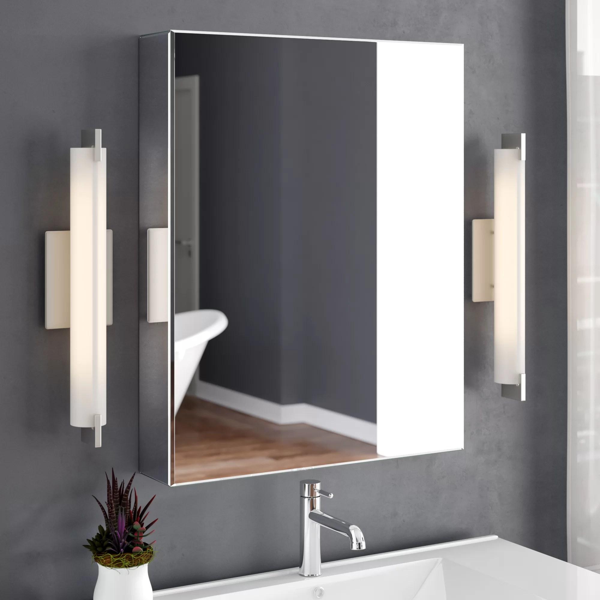 Ebern Designs Aultman 24 X 30 Recessed Or Surface Mount Frameless Medicine Cabinet With 3 Adjustable Shelves Reviews Wayfair