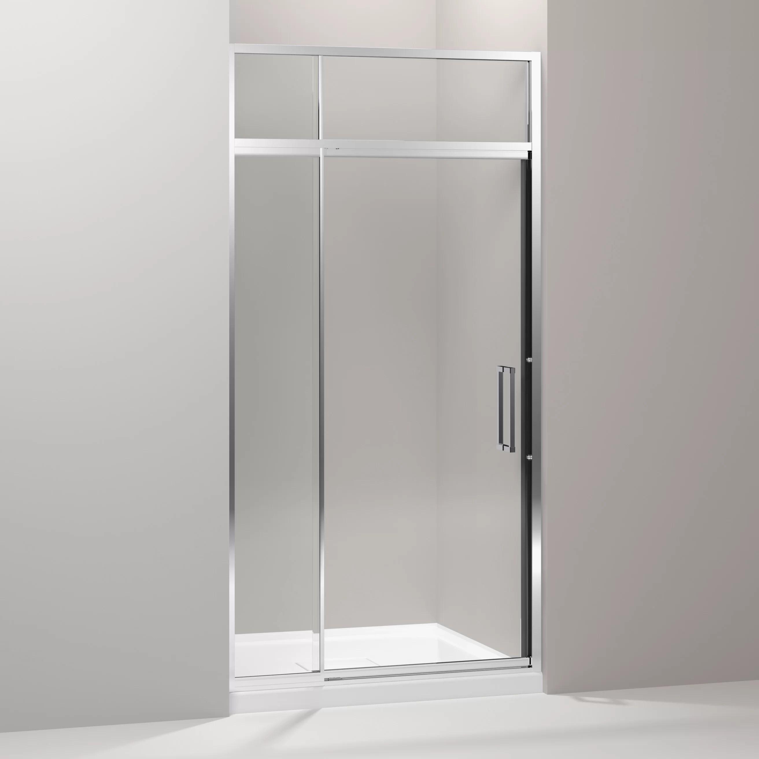 Lattis 42 X 89 5 Pivot Shower Door With Sliding Steam Transom
