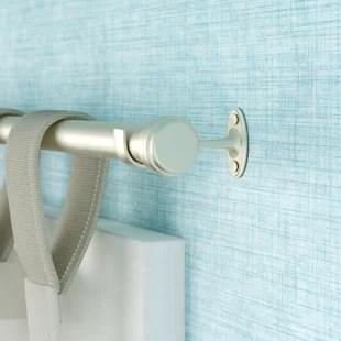 wayfair basics end cap single curtain rod