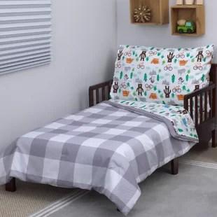 woodland boy 4 piece toddler bedding set