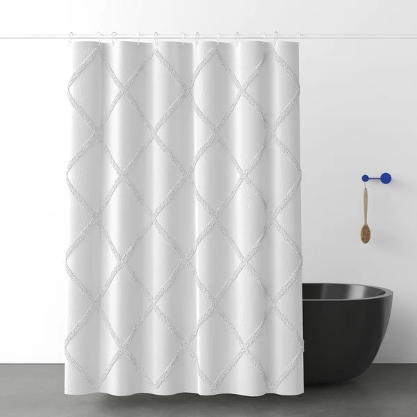 modern contemporary elephant shower curtain
