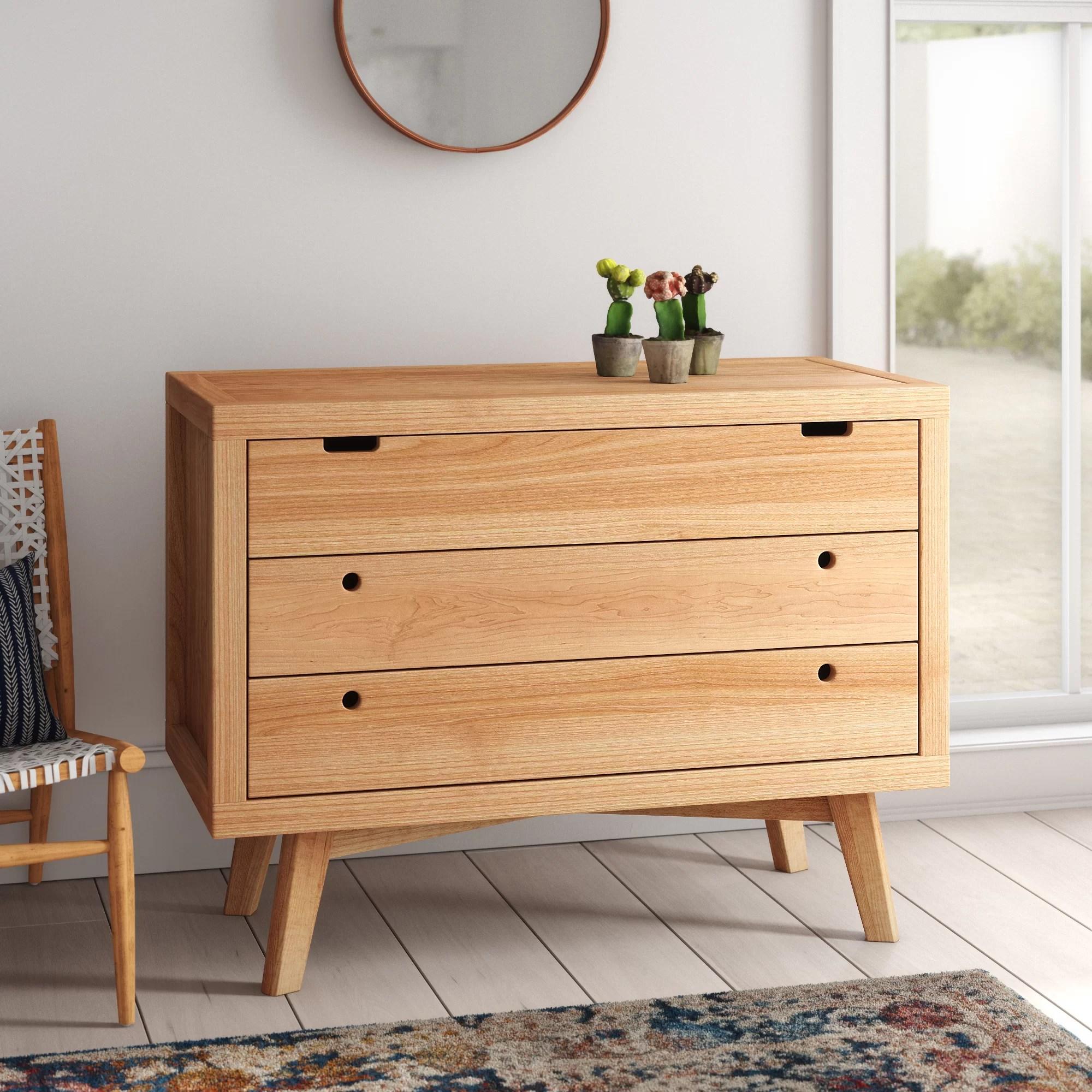 rachel retro 3 drawer dresser