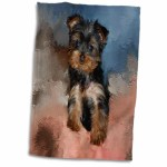 Dogs Yorkie Kitchen Hand Towel Medalex Rs