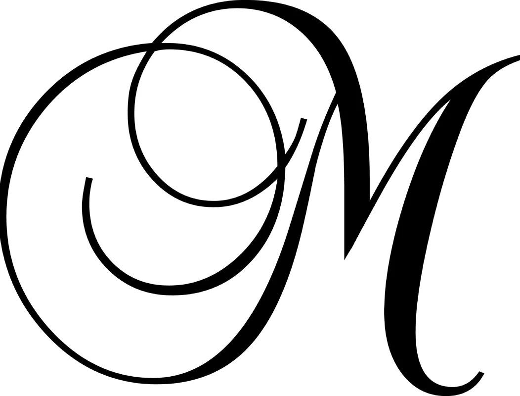 Enchantingly Elegant Letter M Wall Decal Amp Reviews