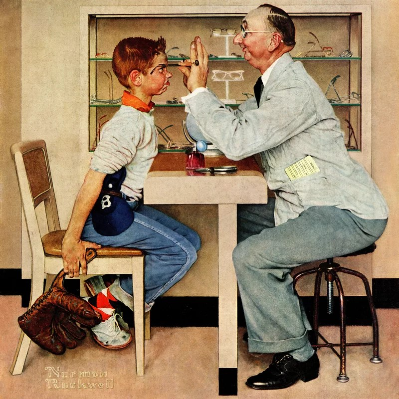 Marmont Hill Eye Doctor By Norman Rockwell Painting