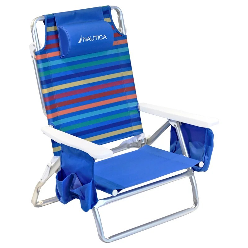 5-Position Reclining/Folding Beach Chair