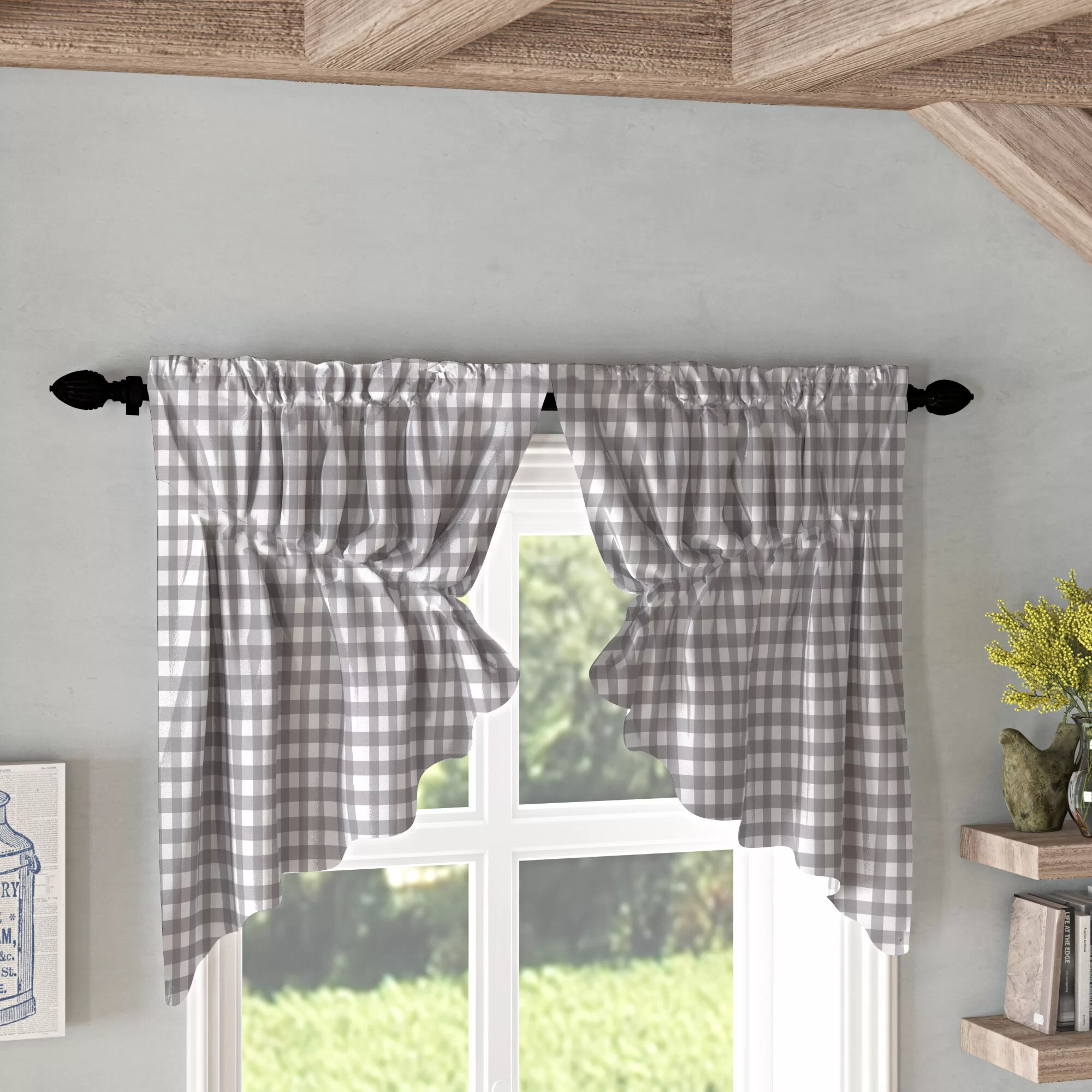 Buffalo Check Valances Kitchen Curtains You Ll Love In 2020