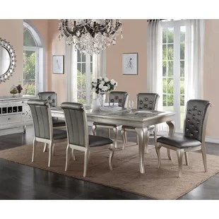 Elegant Dining Room Sets   Wayfair Adele 7 Piece Dining Set