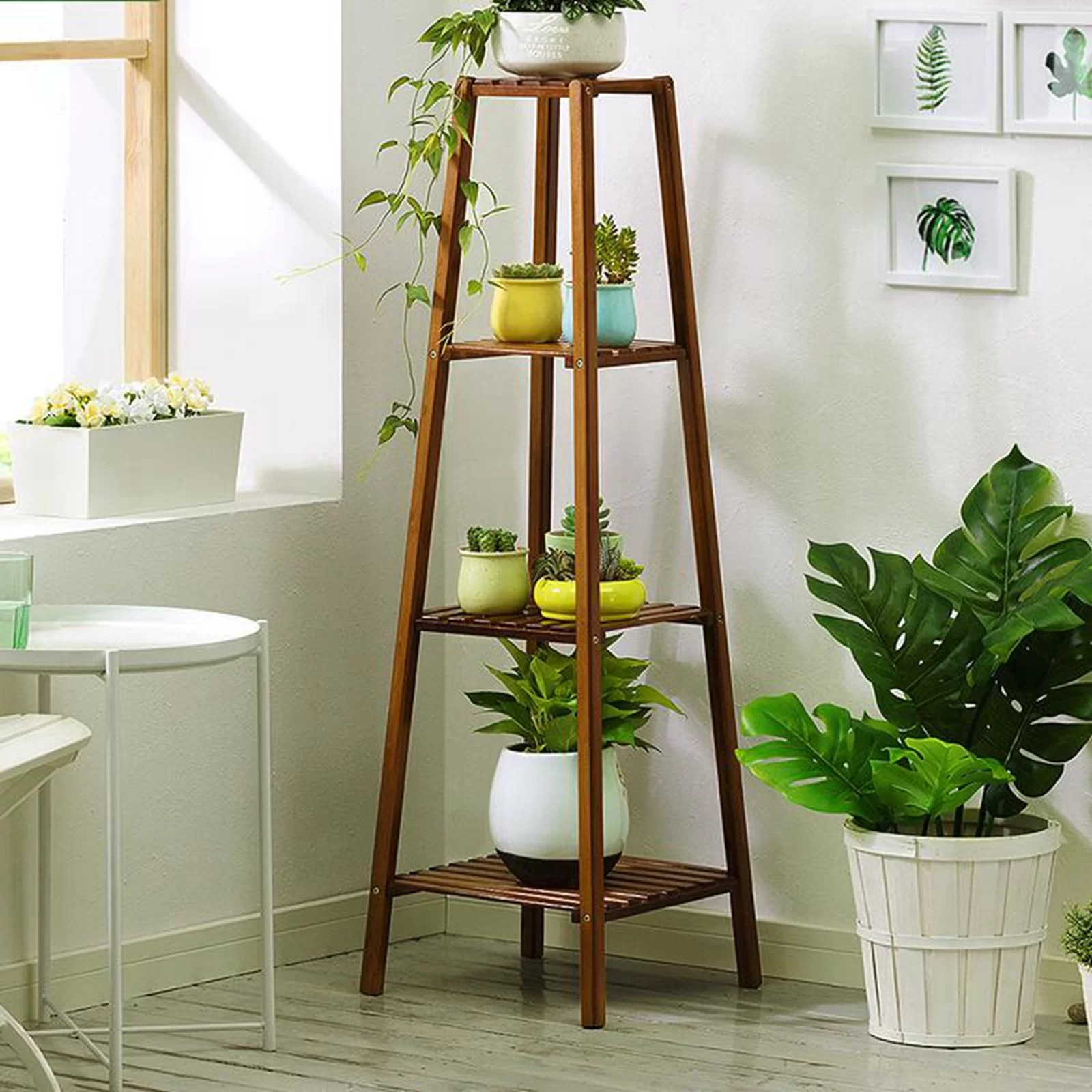 Gracie Oaks Taranto Multi Tiered Plant Stand Reviews Wayfair