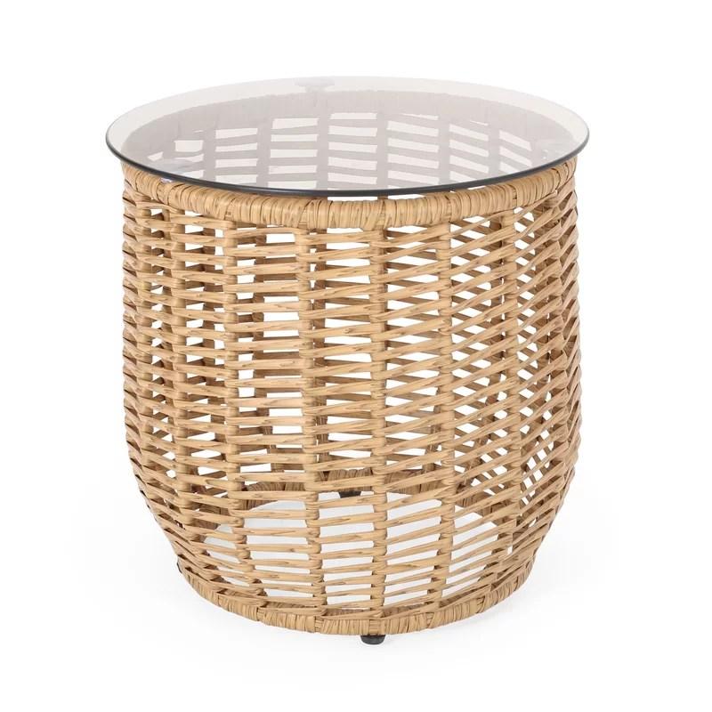 woven outdoor table