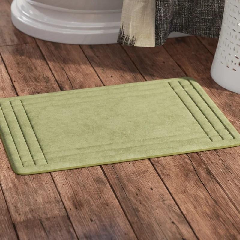 wrought studio mcbride embossed memory foam bath rug & reviews