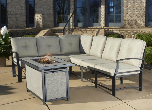three posts pavilion aluminum sectional with cushions & reviews