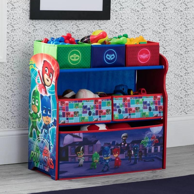 pj masks multi bin toy organizer