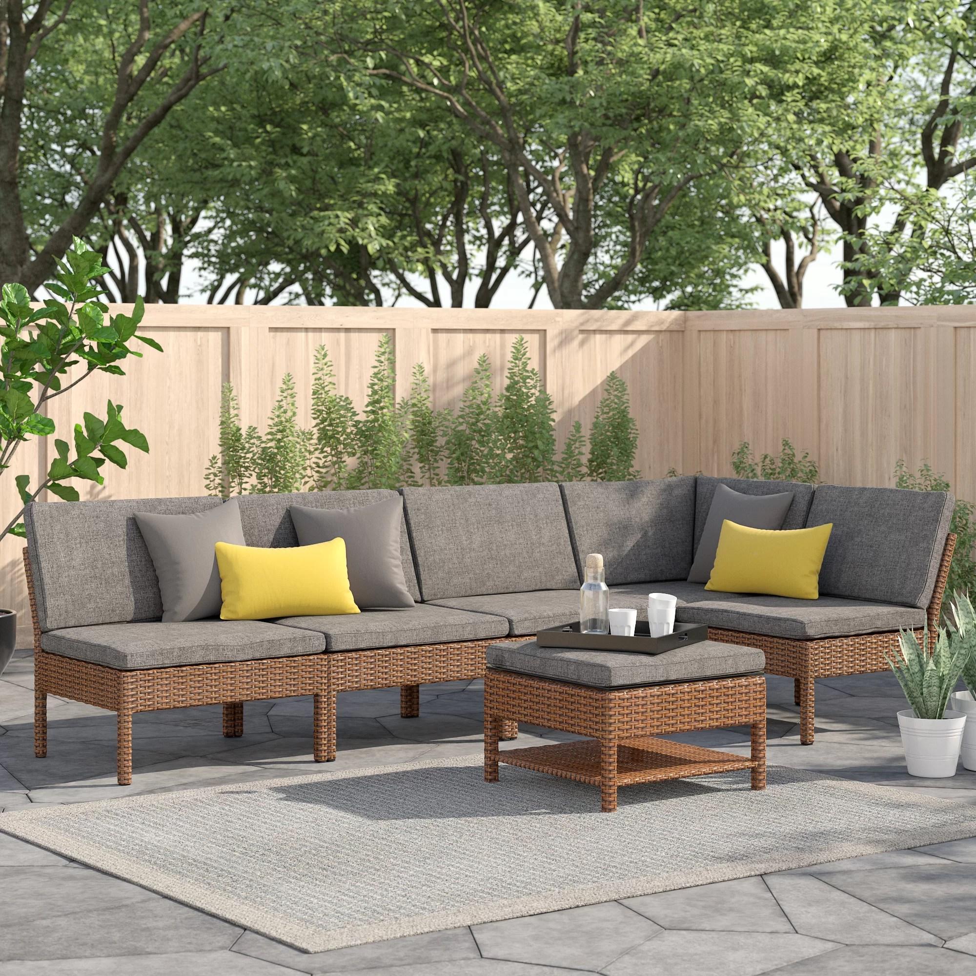 expanding wicker sectional sofa set