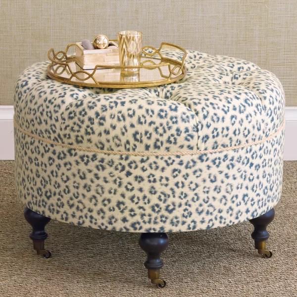 leopard print ottoman