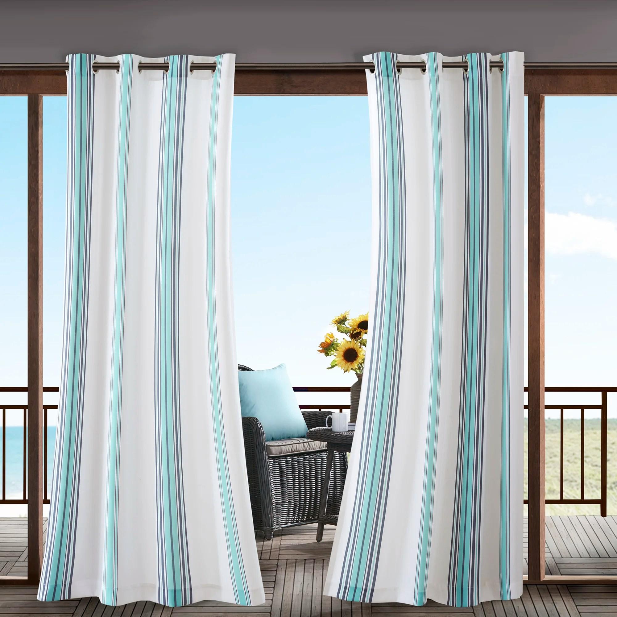 dencie solid room darkening thermal outdoor grommet single curtain panel