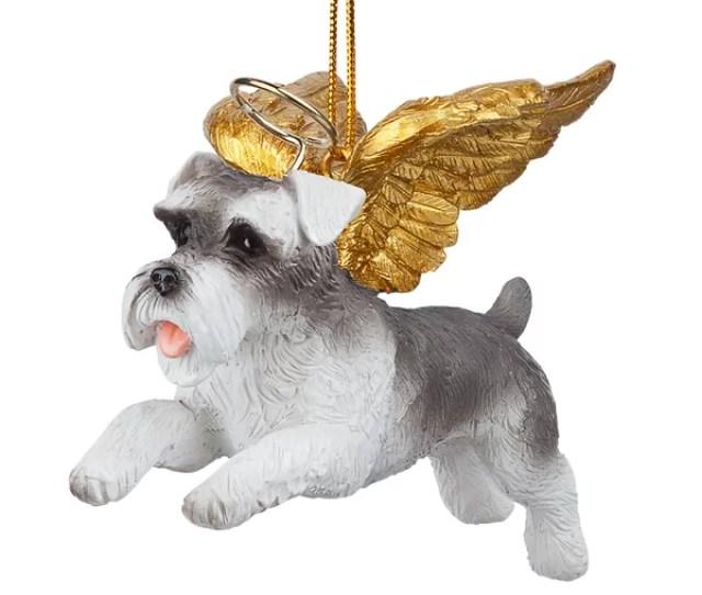 Design Toscano Mini Schnauzer Dog Angel Hanging Figurine Reviews Wayfair