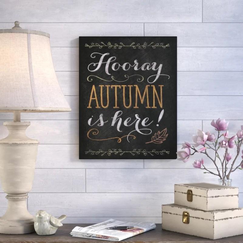 'Autumn' Textual Art on Canvas