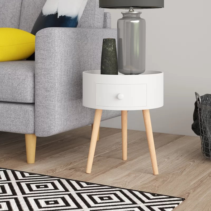 thomas round side table with storage