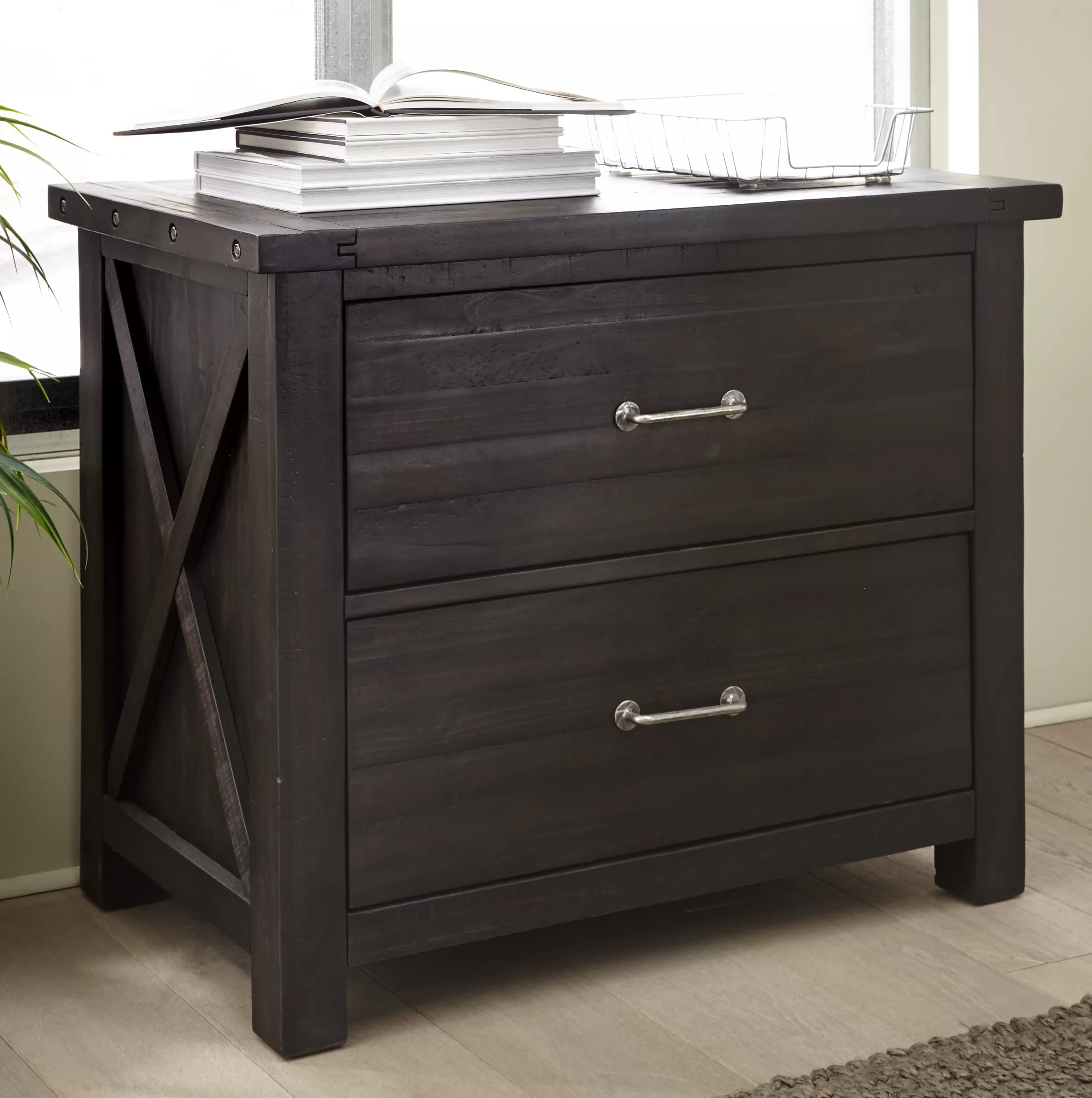 Langsa Solid Wood 2 Drawer Lateral Filing Cabinet