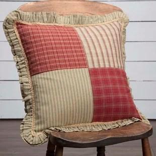 check plaid green throw pillows