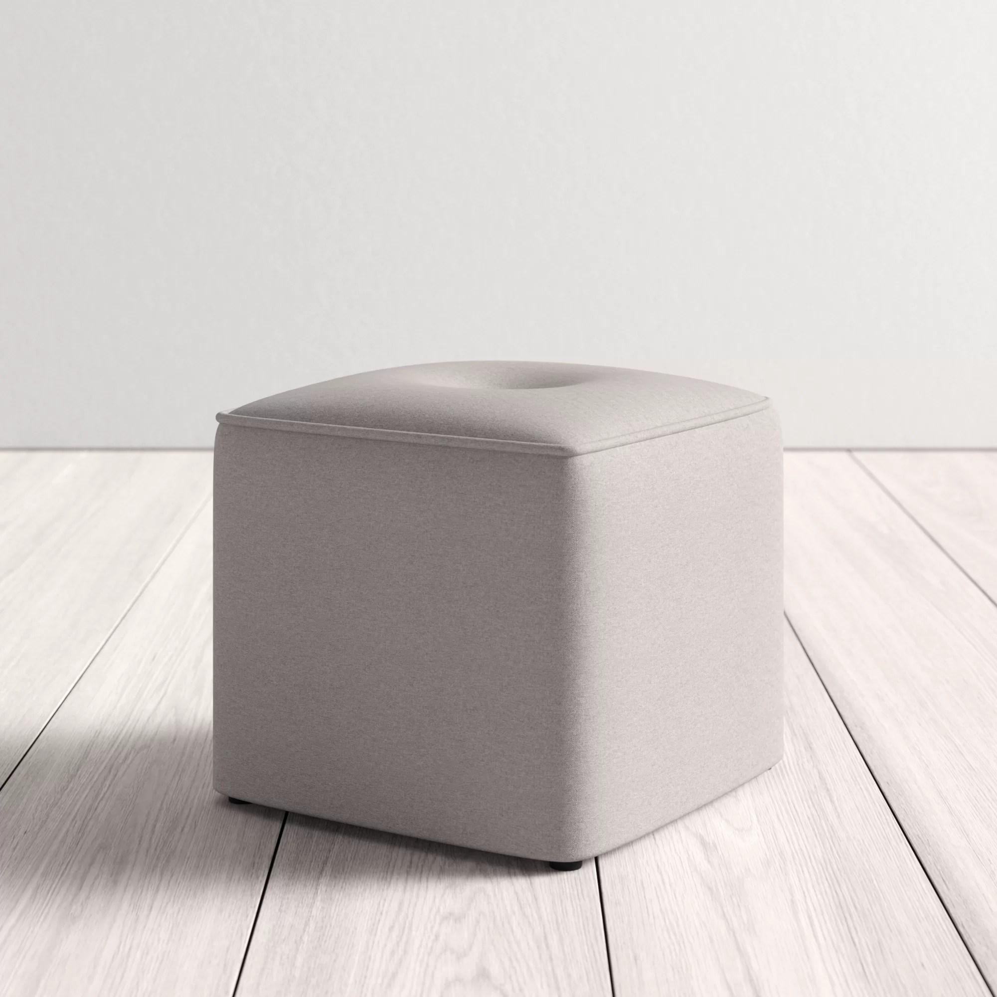 Foye Modern And Contemporary Cube Ottoman