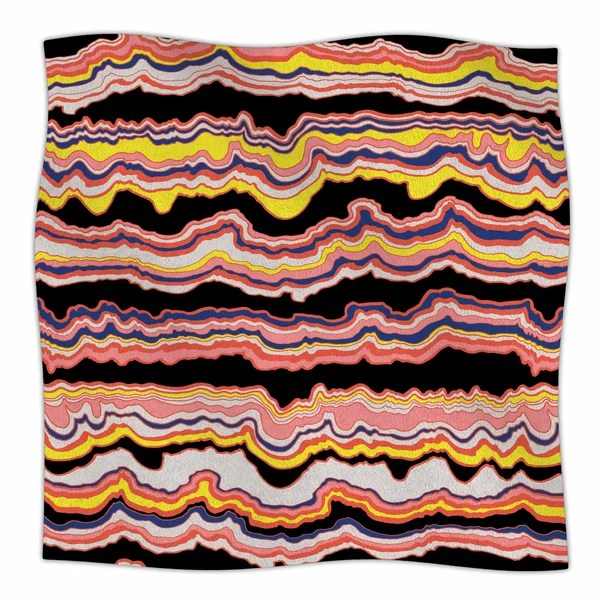 Expressive Lines' By DLKG Design Fleece Blanket By East