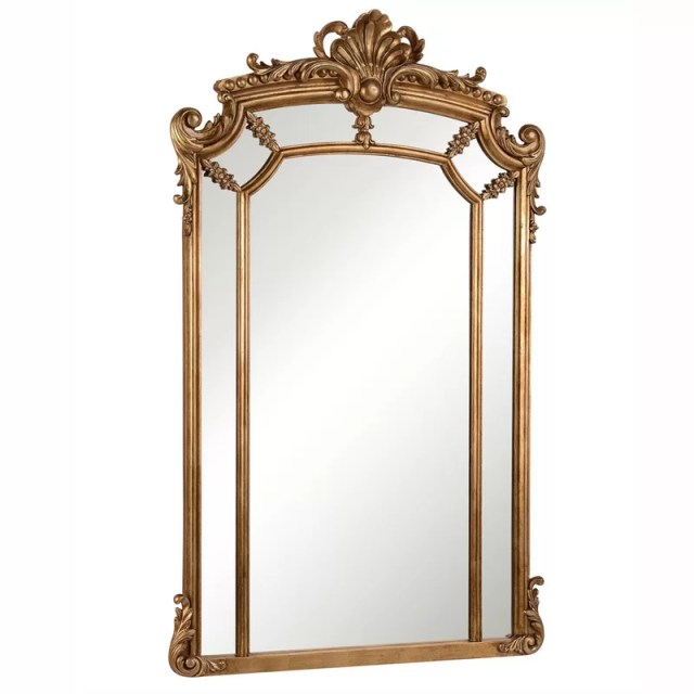 Arch/Crowned Top Wood Wall Mirror
