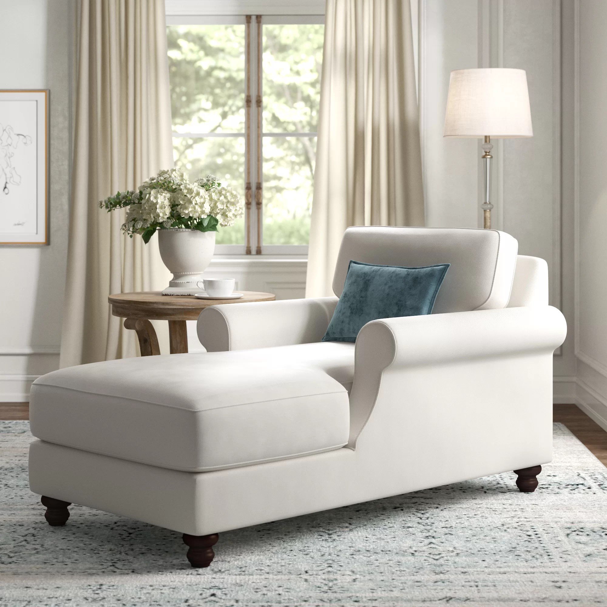 wayfair white chaise lounge chairs
